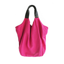 HAVA BAG, LEATHER, PINKKI