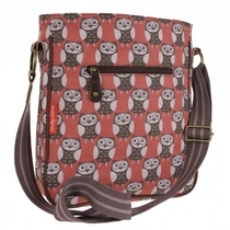 Nicky James Red Owl Cross-body Bag - Olkalaukku punaiset pöllöt