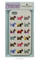 SANTORO ECLECTIC CASE SCOTTIE DOGS IPHONE  5 SARJAN KUORI