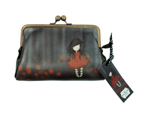 Santoro's Gorjuss™ Poppy Wood purse - kukkaro/pussukka